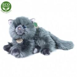 Plyšová perská kočka - ležící - šedá - 30 cm - Rappa