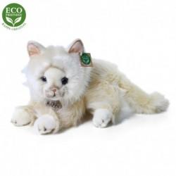 Plyšová perská kočka - ležící - béžová - 30 cm - Rappa