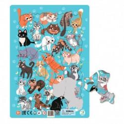 Rámové puzzle - Kočky - 53 dílků - TM Toys