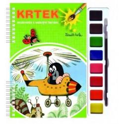Omalovánky s barvami a štětcem s motivem Krtečka - Rappa