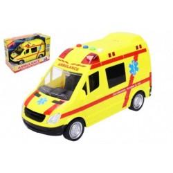 Záchranné vozidlo ambulance se zvukovými a světelnými efekty - 22 cm