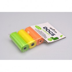 Sáčky na psí exkrementy - barevné - 30 x 23 cm - 45 ks