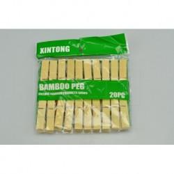 Bambusové kolíčky na prádlo - 20 ks