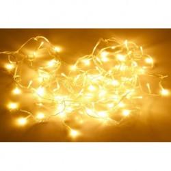 Krápníková LED světýlka do exteriéru i interiéru - 3 m -  90 diod - teplá bílá