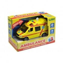 Záchranné vozidlo ambulance se zvukovými a světelnými efekty - 14 cm
