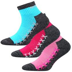 Ponožky Vectorik - mix B - pro dívky - 3 páry - VoXX