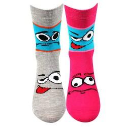 Ponožky Tlamik - mix B - pro dívky - 2 páry - Boma