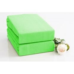 Prémiové froté prostěradlo - světle zelené - BedStyle