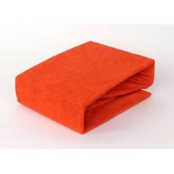 Prémiové froté prostěradlo - oranžové - BedStyle