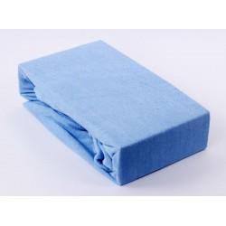 Prémiové froté prostěradlo - nebeská modř - BedStyle