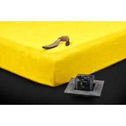 Prémiové froté prostěradlo - žluté - BedStyle