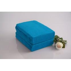 Prémiové froté prostěradlo - azurové - BedStyle