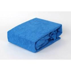 Prémiové froté prostěradlo - modré - BedStyle