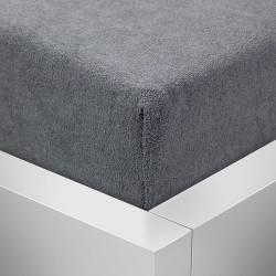 Prémiové froté prostěradlo - tmavě šedé - BedStyle