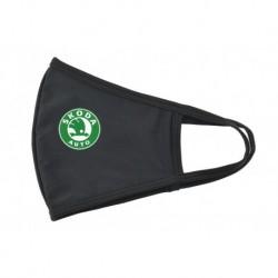 Textilní rouška - Škoda - zeleno-bílé logo
