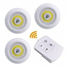 Bezdrátové LED svítidlo na dálkové ovládání - 3 ks