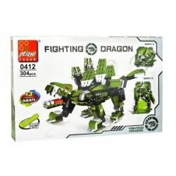 Dětská stavebnice 0412 - 304 dílků - Fighting Dragon - Peizhi
