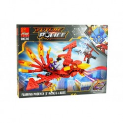 Dětská stavebnice 0636 - 214 dílků - Future Police - Flaming Phoenix - Peizhi