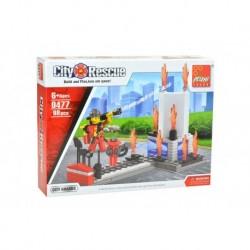 Dětská stavebnice 0477 - 98 dílků - City Rescue - Hasič u požáru - Peizhi