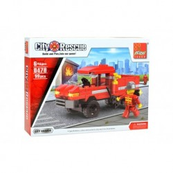 Dětská stavebnice 0478 - 99 dílků - City Rescue - Hasičské auto - Peizhi