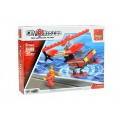 Dětská stavebnice 0480 - 102 dílků - City Rescue - Hasičský vrtulník - Peizhi