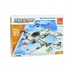 Dětská stavebnice 0424 - 99 dílků - War Power - Bojové letadlo - Peizhi