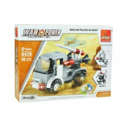 Dětská stavebnice 0426 - 98 dílků - War Power - Raketové auto - Peizhi