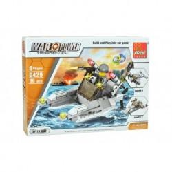 Dětská stavebnice 0429 - 96 dílků - War Power - Rychlostní člun - Peizhi