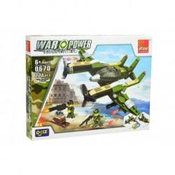 Dětská stavebnice 0670 - 221 dílků - War Power - Twin Mustang Fighter - Peizhi