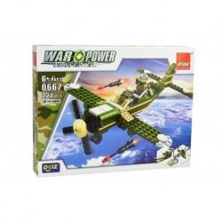 Dětská stavebnice 0667 - 222 dílků - War Power - HE-100 Fighter - Peizhi