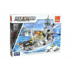 Dětská stavebnice 0673 - 213 dílků - War Power - Bitevní loď - Peizhi