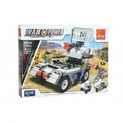 Dětská stavebnice 0674 - 209 dílků - War Power - Signální vůz - Peizhi