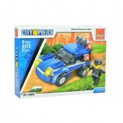 Dětská stavebnice 0473 - 97 dílků - City Police - Městská stráž - auto - Peizhi