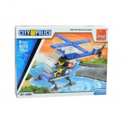 Dětská stavebnice 0475 - 103 dílků - City Police - Městská stráž - vrtulník - Peizhi
