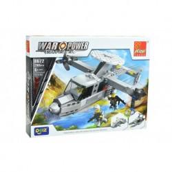 Dětská stavebnice 0672 - 200 dílků - War Power - Transportní letadlo - Peizhi