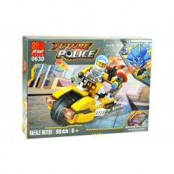 Dětská stavebnice 0630 - 98 dílků - Future Police - Rafale Motor - Peizhi