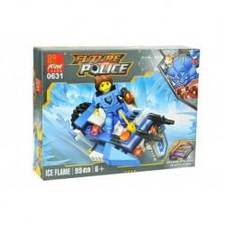 Dětská stavebnice 0631 - 99 dílků - Future Police - Ice Flame - Peizhi
