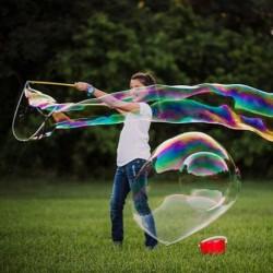 Mega bublifuk na obří mýdlové bubliny