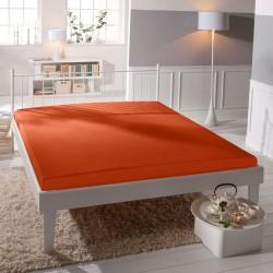 Prémiové jersey prostěradlo - oranžové - BedStyle