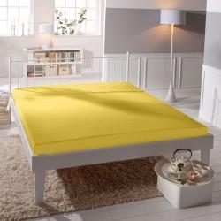 Prémiové jersey prostěradlo - žluté - BedStyle