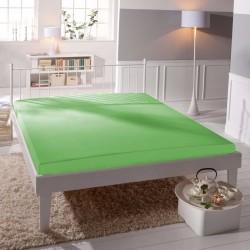 Prémiové jersey prostěradlo - zelené - BedStyle