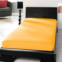 Prémiové jersey prostěradlo - sluneční žlutá - BedStyle