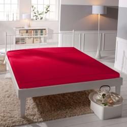 Jersey prostěradlo - lycra DeLuxe - červené - BedStyle
