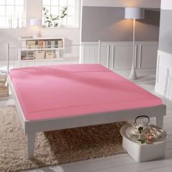 Jersey prostěradlo - lycra DeLuxe - růžové - BedStyle