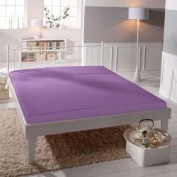 Jersey prostěradlo - lycra DeLuxe - středně fialové - BedStyle