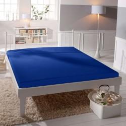 Jersey prostěradlo - lycra DeLuxe - tmavě modré - BedStyle