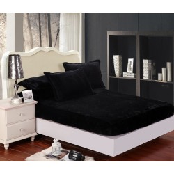 Mikroflanelové prostěradlo Elegance - černé - BedStyle