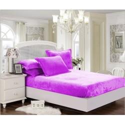 BedStyle mikroflanel lepedő Elegance - lila