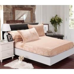 Mikroflanelové prostěradlo Elegance - béžové - BedStyle