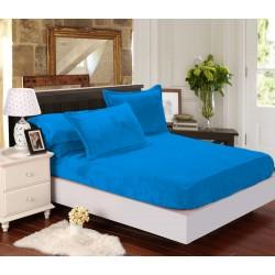 Mikroflanelové prostěradlo Elegance - modré - BedStyle